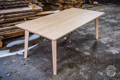 Table from Homestead Flaming Birch - Puuartisti Birch Decorations, Solid Wood Dining Table, Scandinavian Style, Furniture Making, Plank, Finland, Homesteading, Bespoke, Interior Design