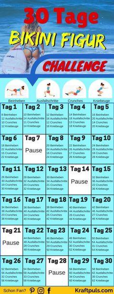 WOW In nur 30 Tagen zur idealen Bikini Figur für den Sommer #fitness #abnehmen #traningsplan #deutsch