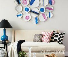 DIY Display Dishes Plates