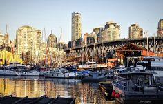 False Creek/ Granville Island - Vancouver, British Columbia - Canada Granville Island Vancouver, British Columbia, New York Skyline, Canada, Travel, Viajes, Destinations, Traveling, Trips
