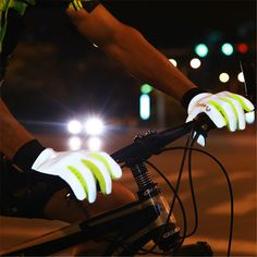 Reflective Cycling Full Finger Bike Gloves