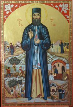 Saint Ephra the New Byzantine Icons, Orthodox Christianity, Art Icon, Catholic Saints, Holy Family, Orthodox Icons, Christian Art, Religion, Manga