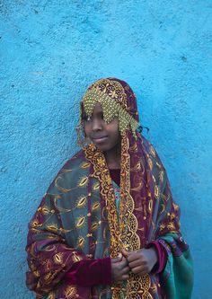 Harari Girl In Traditional Costume, Harar