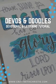 Join us for a weekly bible study and hand lettering tutorial.   devotional   women bible study   hand lettering tutorial   beginning hand lettering   how to hand letter   hand lettering ideas   hand lettering art   scripture art   scripture lettering   bible lettering   bible scripture lettering ideas   hand drawn scripture   Isaiah 60:1   #bibleart #handlettering Scripture Lettering, Hand Lettering Art, Hand Lettering Practice, Hand Lettering Tutorial, Lettering Ideas, Scripture Cards, Brush Lettering, Bible Scriptures, Isaiah 60 1