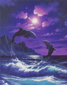 purple dolphins