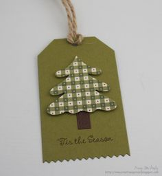 checked pattern paper tree from In My Creative Opinion: 25 Days of Christmas Tags - Tag 25 Christmas Name Tags, 25 Days Of Christmas, Christmas Tree Cards, Holiday Gift Tags, Christmas Gifts, Christmas Projects, Christmas Ideas, Card Tags, Craft Fairs