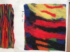 felt. constructing colours into fabric