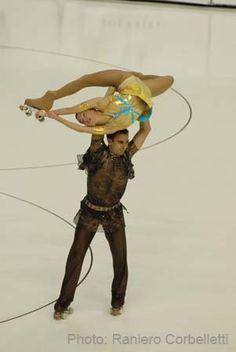 Dancing on Wheels  -  Italian pairs skaters Enrico Fabbri and Laura Marzocchini - artistic roller skating