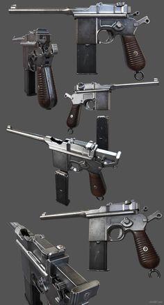 ArtStation - Mauser M712 schnellfeuer Pistole , Chris 807
