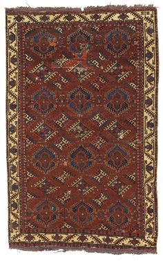A Yomut 'Eagle Gul' group main carpet, Southwest Turkestan   lot   Sotheby's