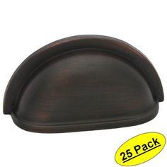 "Cosmas 4310ORB Oil Rubbed Bronze Cabinet Hardware Bin Cup Drawer Handle Pull - 3"" Hole Centers - 25 Pack Cosmas,http://www.amazon.com/dp/B00895ZJK4/ref=cm_sw_r_pi_dp_klHltb0559N0JBPH"