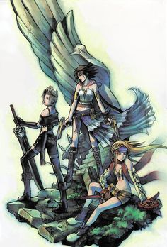 Yuna, Rikku, and Paine - Final Fantasy X-2
