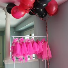 Hot pink tutus at a Barbie party!  See more party ideas at CatchMyParty.com!  #partyideas #barbie