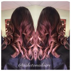 New ideas for hair dyed tips rose gold - ★HAIR idea ★ - Dyed Cabelo Rose Gold, Rose Gold Hair, Balayage Hair Blonde, Ombre Hair, Red Balayage, Bayalage, Brunette Hair, Pelo Popular, Hair Color Asian