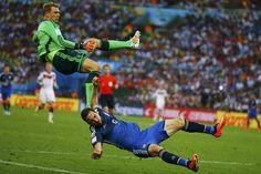 El penal para la Argentina que el árbitro nunca vio.  Foto:Reuters