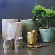 Utvalda favoriter på R.O.O.M. Vackra betongkrukor från 119kr. Gröna keramikvaser från 119kr. Liten mässingkruka 349kr. Sax 199kr. Doftljus från 169kr. Varmt välkommen in i butiken! #roombutiken