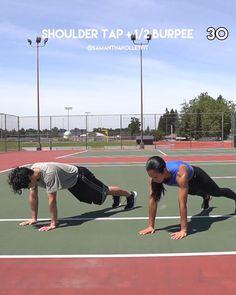 Cardio Hitt Workout, Hiit Workout Videos, Full Body Dumbbell Workout, Hiit Workout At Home, At Home Workouts, Workout Partner, Strength Workout, Workout Plans, Tabata