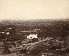 A panoramic view of Pune (and its cantonment visible in the distance) from the Parvati Hill. The photograph is from the 1860s! #Pune