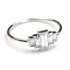 art deco engagement ring!!