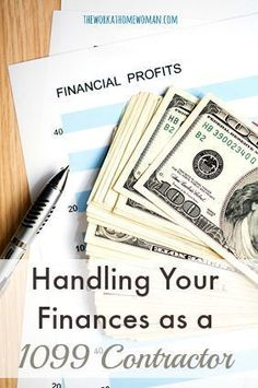 Handling Your Finances as a 1099 Contractor Do you understand your financial responsibilities as a freelancer or independent business owner? Don't make these mistakes. Business Help, Home Based Business, Starting A Business, Business Planning, Online Business, Business Ideas, Business Marketing, Self Employment, Start Ups