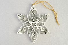 Paper quilled snowflakes Snowflake decoration Quilling