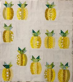 Pineapple quilt - made with the quick curve ruler