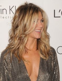 Jennifer Aniston curly wavy hair