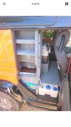 Defender Camper, Land Rover Defender, Moto Car, Car Stuff, Campers, Offroad, Madness, 4x4, Interior