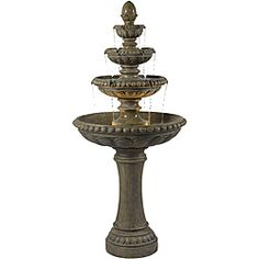 @Overstock - Reminiscent of the style of Tuscan villas, the 66-inch spire of this 4-tiered Italian styled water feature offers an abundance of sight and sound. This elegant resin floor fountain comes in a Tuscan Earth color.http://www.overstock.com/Home-Garden/Thaumas-Resin-Outdoor-Floor-Fountain/6537161/product.html?CID=214117 $503.99