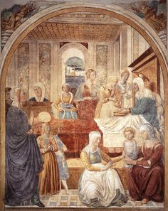 Benozzo Gozzoli  The Birth of Mary 1491 Castelfiorentino