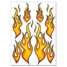 "Racing Aufkleber ""Fire Flames"" Feuer Flammen Sticker Set - 12 Aufkleber auf DIN A4 Bogen Airbrush, Calligraphy, Stickers, Fire, Arch, Sticker, Air Brush Machine, Lettering, Calligraphy Art"