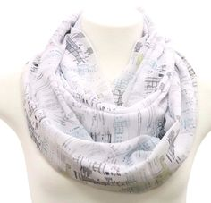 Architecture scarf birthday gift for architects present design graduation gift  #Handmade #Infinityscarf #Birthdayanniversarygraduationgiftforher