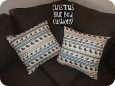 Christmas pattern throw cushions for a subtle Christmasy addition!