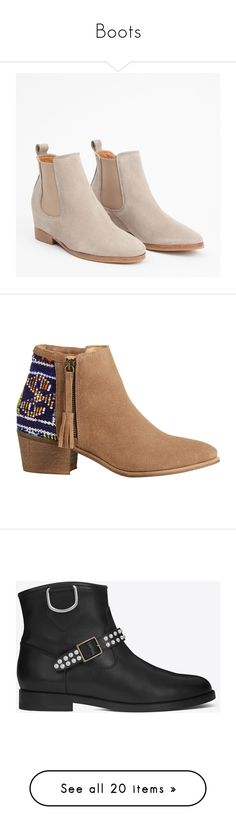 """""""Boots"""" by otrafter ❤ liked on Polyvore featuring shoes, boots, ankle booties, botas, suede boots, short suede boots, wedge bootie, suede wedge boots, suede wedge bootie and ankle boots"""