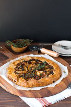 Baking the Goods - French Onion Gruyere Pear Galette - Baking the Goods Quiches, Antipasto, Gallette Recipe, Tapas, Savory Tart, Savoury Baking, French Onion, Appetizer Recipes, Appetizers