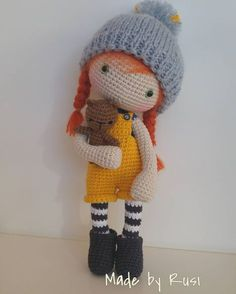 Mesmerizing Crochet an Amigurumi Rabbit Ideas. Lovely Crochet an Amigurumi Rabbit Ideas. Crochet Doll Clothes, Knitted Dolls, Crochet Dolls, Crochet Bear, Love Crochet, Amigurumi Doll, Plush Dolls, Crochet Doll Pattern, Crochet Patterns