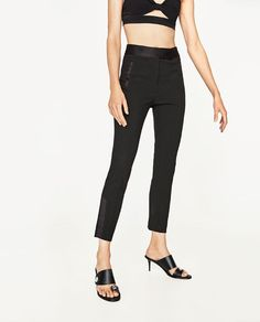 Image 3 of CROPPED TUXEDO TROUSERS from Zara