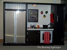 DIY Play Kitchen from a Entertainment Center. Brilliant!
