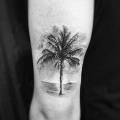 Palm tree tattoo