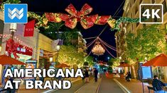 [4K] Americana at Brand in Glendale, Los Angeles California USA - Christ... Los Angeles California, California Usa, Santa Monica Blvd, Walking Tour, Christmas Time, Tours, Holiday Decor, Outdoor, Outdoors