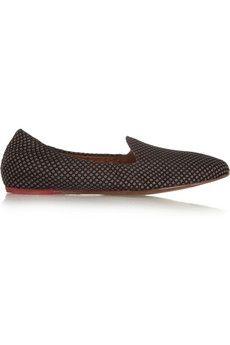 Lanvin Silk-jacquard slippers | NET-A-PORTER