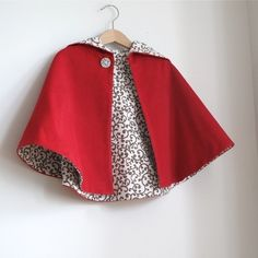 Little Red Riding Hood Infant or Toddler Cape Sizes by aprilscott