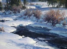 """MATT SMITH, """"Winter Pool"""" (oil, 12x16) - Nov 14, 2014: Opening of Small Works, Great Wonders at the National Cowboy and Western Heritage Museum, Oklahoma City, OK"""