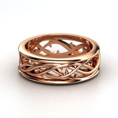 14K Rose Gold Ring | Vine Band | Gemvara