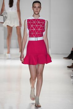 Victoria Beckham Spring 2014 Ready-to-Wear Collection Slideshow on Style.com MOVING AWAY FROM THE NORM thats why we love it from miss VB