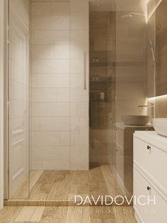 apartment on Panelnaya str. on Behance Home Design Decor, Interior Design, Home Decor, Ukraine, House Design Pictures, Small Condo, Small Spaces, Bathtub, Bathroom