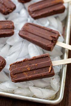 Dark Chocolate Peanut Butter Cup Fudgsicles