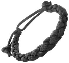 Adjustable Thick 4 Strand 8mm Round Survival Black 550 Braided Snake Paracord Bracelet