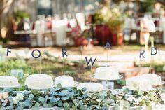 Forward Individual Cake Toppers // Fall Texas Wedding // SouthernWeddings.com