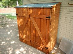 Assembled Shed on the Side of the  House